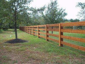 post and board fence in pa
