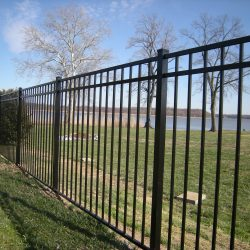 tall classic style aluminum fence for pa backyards