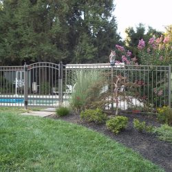 textured aluminum pool fence and gate