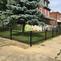 textured black aluminum fence inspiration pictures