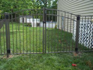 textured bronze aluminum fence gate inspiration
