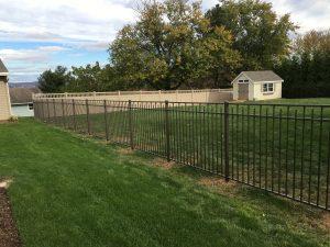 textured bronze aluminum fence panel inspiration