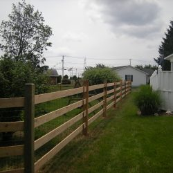 traditional slip board fence for privacy
