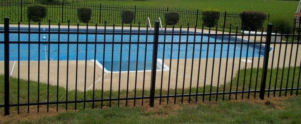 backyard fence around pool