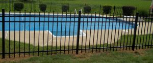 backyard fence around pool