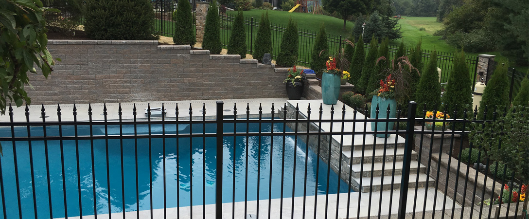 Pool fence laws pool fence designs youll want smucker fencing black aluminum pool fence residential pool fence with hardscaping workwithnaturefo