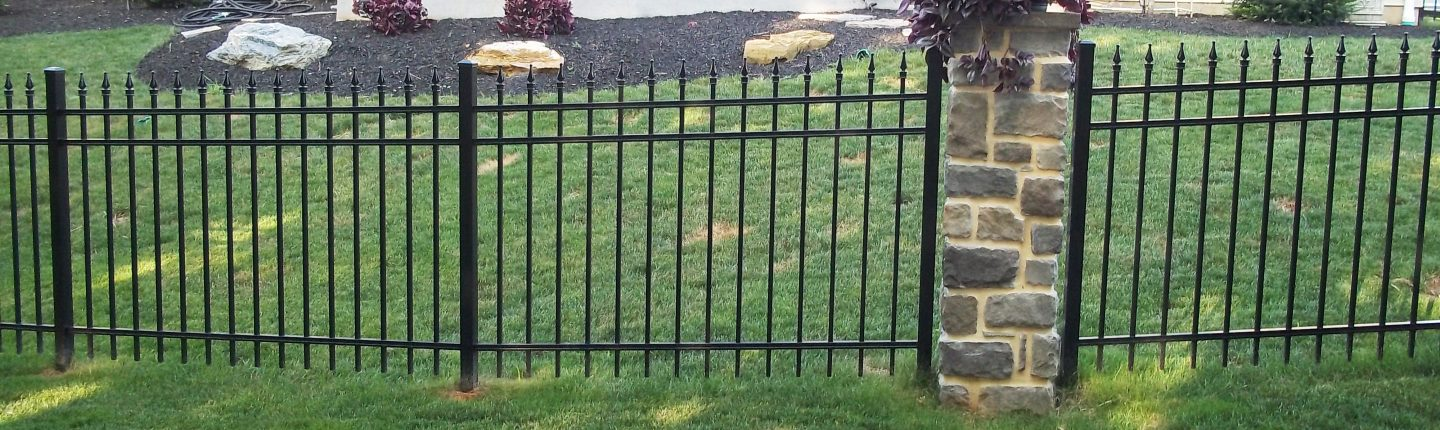 Clean Black Aluminum Fence in Chester County, PA