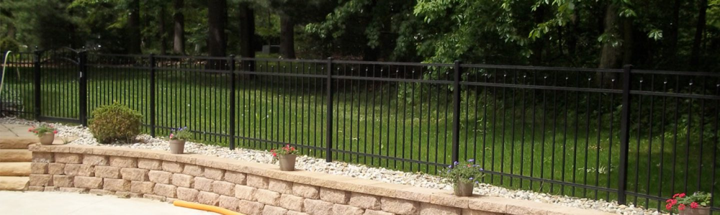 Aluminum Fence Designs Aluminum fence designs and styles smucker fencing blog black backyard aluminum privacy fence workwithnaturefo