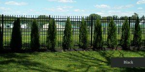 Commercial Black Aluminum Fence