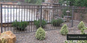 Textured Bronze Aluminum Fence
