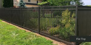 Flat Top Aluminum Fence Design in Chester PA