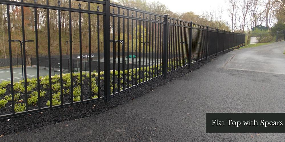 Flat Top Spear Fence Design Ideas
