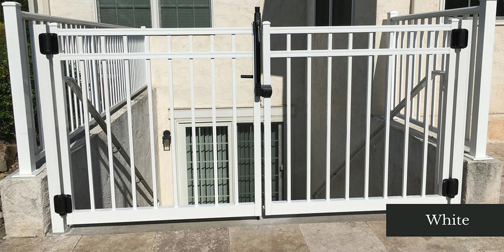 Commercial White Aluminum Fence