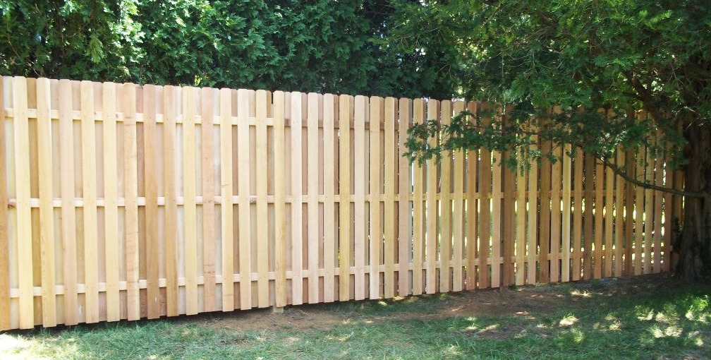 Wooden Slats Privacy Fence
