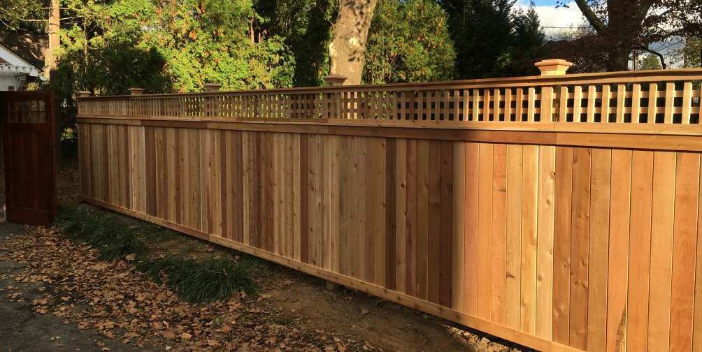 Wooden backyard fence in Chester PA