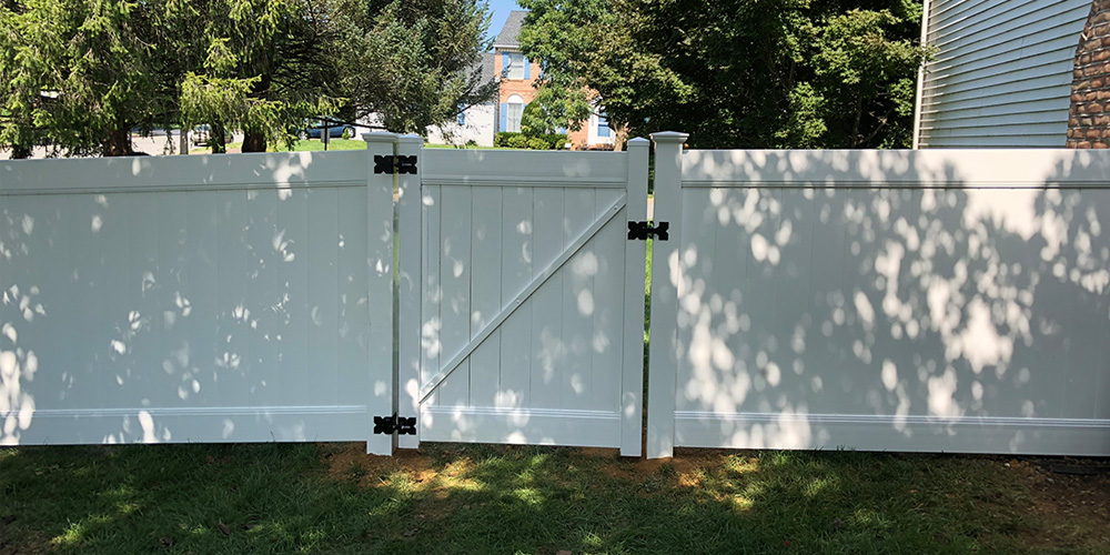 Vinyl Fence and Gate in Chester County
