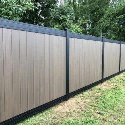 classic vinyl privacy fencing installation