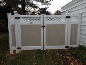 low maintenance vinyl fence gate