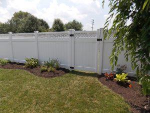 low maintenance white vinyl fence panels