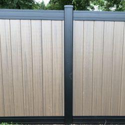 modern style vinyl privacy fence panel inspiration