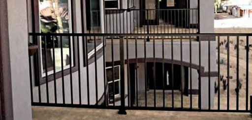 Satin Black Aluminum Railing Ideas