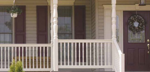 Vinyl Porch Railing for Sale in Tan