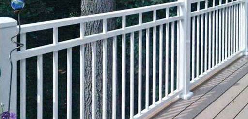 Aluminum Deck Railing in White
