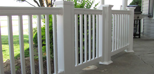 White Vinyl Porch Railing in Chester County PA