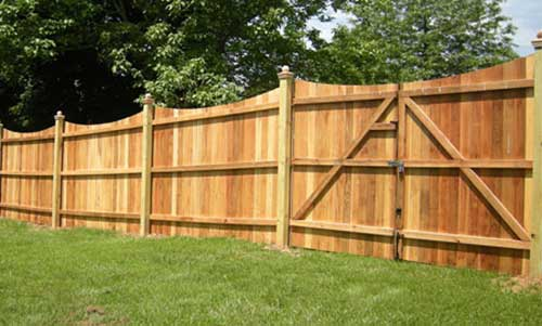 Residential and Commercially Installed Wood Fence