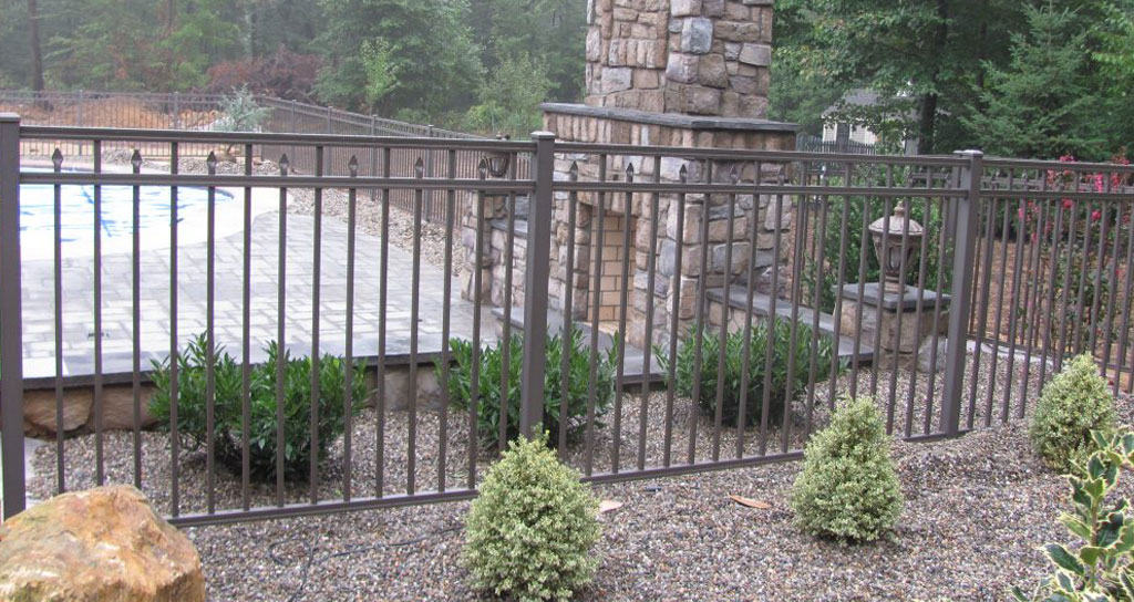 Copper colored fence installed in Lancaster PA