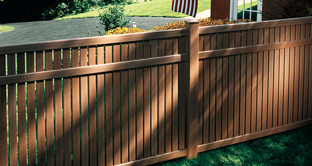 Brown vinyl fence installed in Lancaster PA