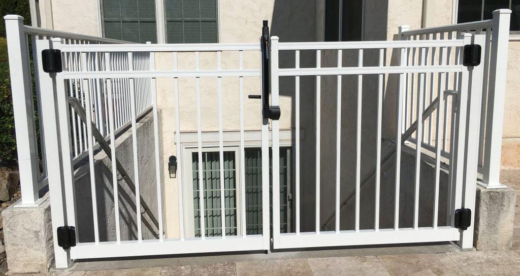 White fence around home exterior