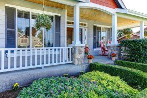 Beautiful modern front porch decor