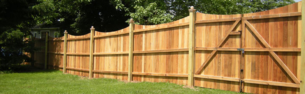 Cedar fence with high maintenance