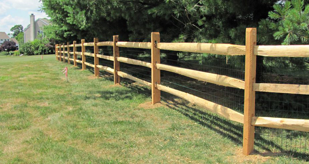Wooden post and rail affordable fence