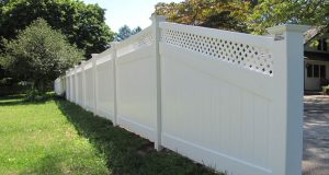 low maintenance vinyl fencing for backyard
