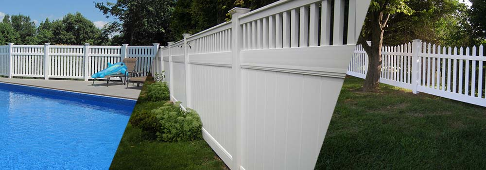 Multiple vinyl fencing installations in Chester and Lancaster County