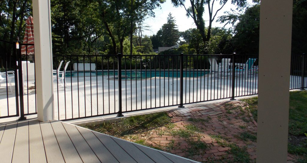 Strong Aluminum Fence by Pool