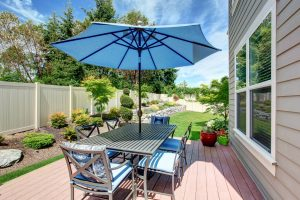Fenced in yard with beautiful privacy