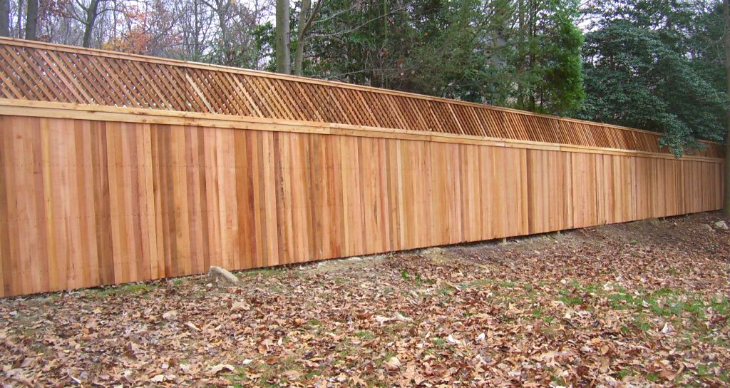Popular wooden fence installation