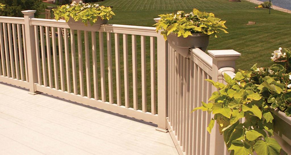 best vinyl fence railings