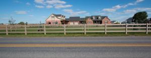 Farmhouse fenced yard