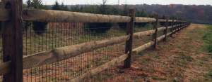 Farm style fence on ranch property