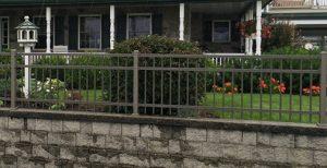 Residential aluminum fencing