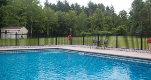 Stylish pool fence in Lancaster PA