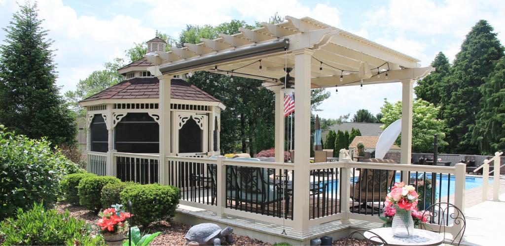 Backyard pergola ideas for pool