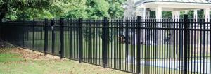 Commercial grade aluminum fencing