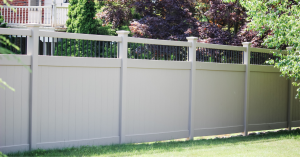 Vinyl fence replacement with privacy included
