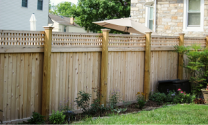 Wooden privacy fence installed in Chester County PA