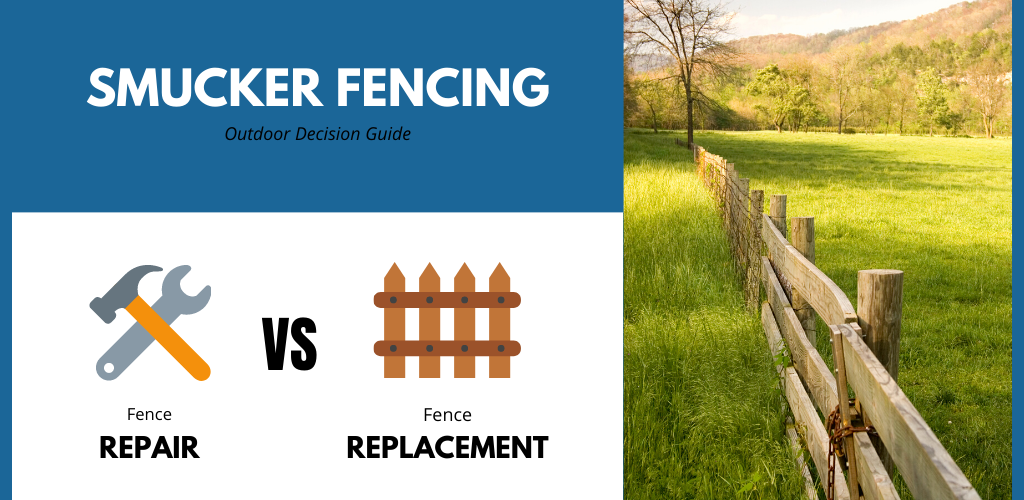 repair or replace a fence infographic